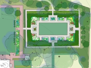 Plan for the restoration of the Colonial Revival Garden, 2013