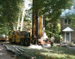 Drilling for the geothermal wells