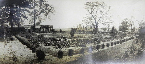 1912 view of the Colonial Revival Garden