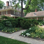 View to mansion from Colonial Revival Garden
