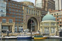 Rowes Wharf. Water view.